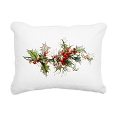 Holly and berries Rectangular Canvas Pillow
