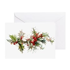 Holly and berries Greeting Cards