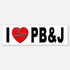 I Love PB&J Bumper Sticker Peanut Butter Jelly