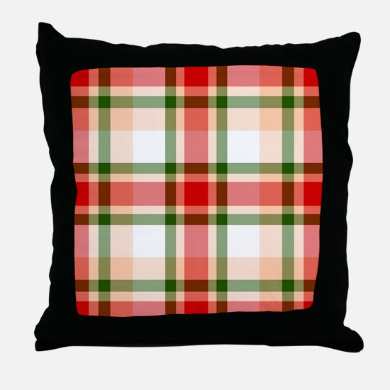 Christmas Plaid Throw Pillow
