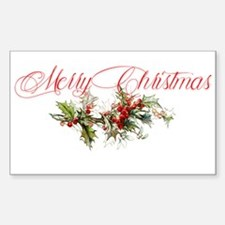 Merry Christmas Holly and berries Decal