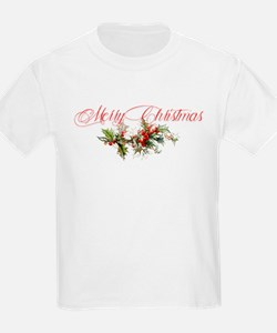 Merry Christmas Holly and berries T-Shirt