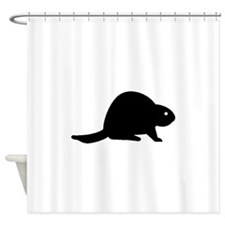 Beaver Silhouette Shower Curtain