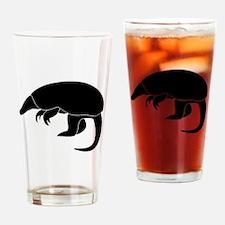 Armadillo Silhouette Drinking Glass