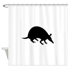 Armadillo Silhouette Shower Curtain