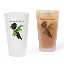 Real men like Magpies Humor Bird Quote Drinking Gl
