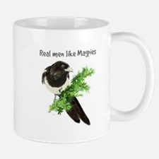 Real men like Magpies Humor Bird Quote Mugs