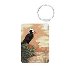 TUFFED PUFFIN at Dusk Keychains