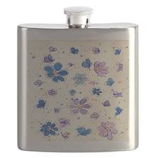 Daisies & Butterflies Flask