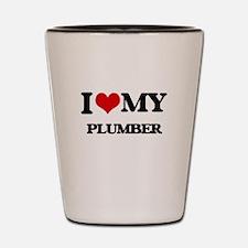 I love my Plumber Shot Glass