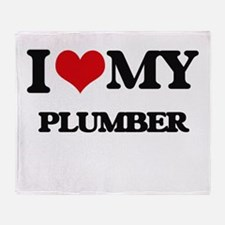I love my Plumber Throw Blanket