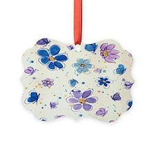 Daisies & Butterflies Ornament