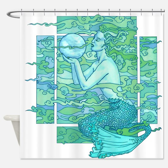 Pisces Seas Shower Curtain