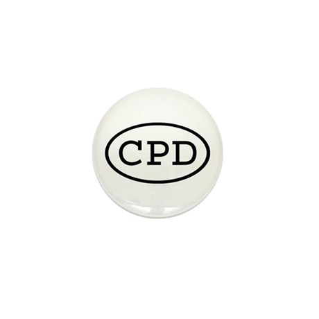 CPD Oval Mini Button (10 pack)