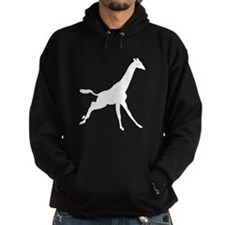 Giraffe Running Silhouette Hoodie
