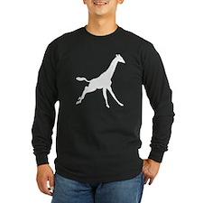Giraffe Running Silhouette Long Sleeve T-Shirt
