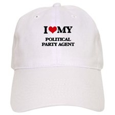 I love my Political Party Agent Baseball Cap