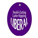 Sushi-Eating Latte Liberal Ornament