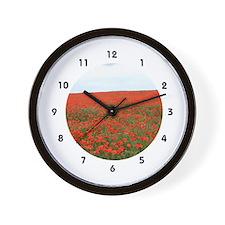 Scarlet Horizons Wall Clock