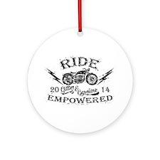 Ride Empowered Vintage Glitter & Gasoline Ornament