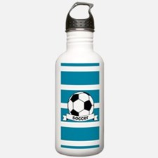 Soccer Ball and Banner Water Bottle