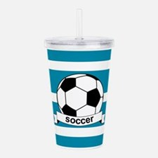 Soccer Ball and Banner Acrylic Double-wall Tumbler