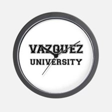 VAZQUEZ UNIVERSITY Wall Clock