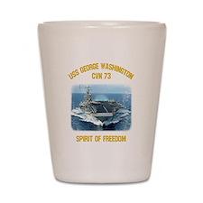 USS George Washington CVN 73 Shot Glass