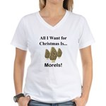 Christmas Morels Women's V-Neck T-Shirt
