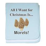 Christmas Morels baby blanket