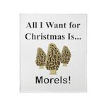 Christmas Morels Throw Blanket