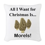 Christmas Morels Woven Throw Pillow