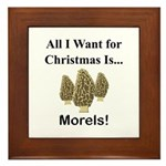 Christmas Morels Framed Tile