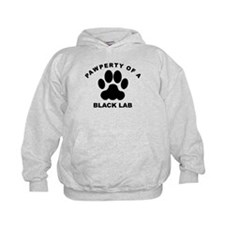 Pawperty Of A Black Lab Hoodie