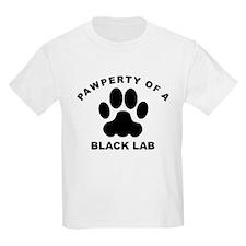 Pawperty Of A Black Lab T-Shirt