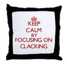 Clacking Throw Pillow