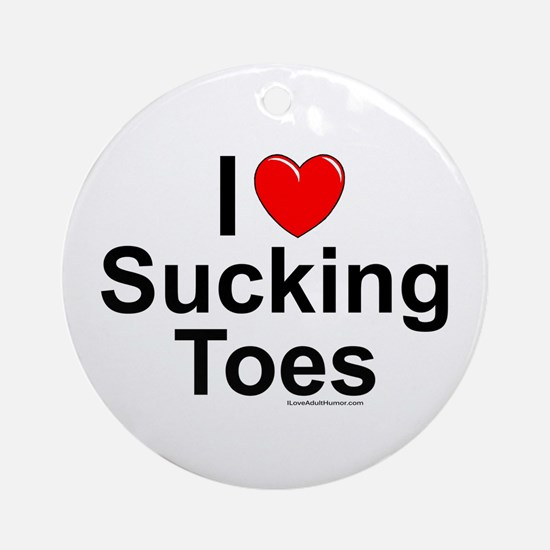 Sucking Toes Ornament (Round)