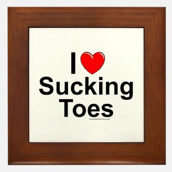 Sucking Toes Framed Tile