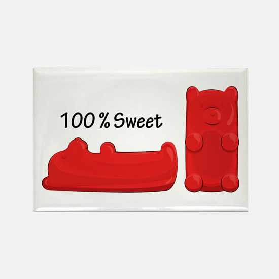 Sweet Candy Bears Rectangle Magnets
