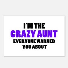 Crazy Aunt You Were Warne Postcards (Package of 8)
