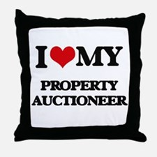 I love my Property Auctioneer Throw Pillow