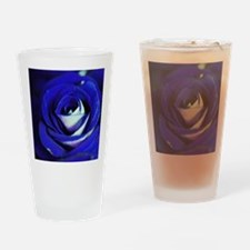 Blue Rose Drinking Glass