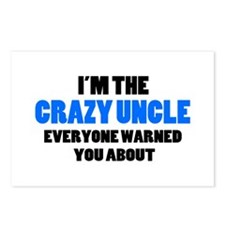 Crazy Uncle You Were Warn Postcards (Package of 8)