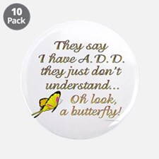 """ADD Butterfly 3.5"""" Button (10 pack)"""