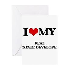 I love my Real Estate Developer Greeting Cards