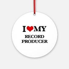 I love my Record Producer Ornament (Round)