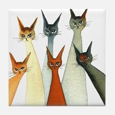 Seville Stray Cats Tile Coaster