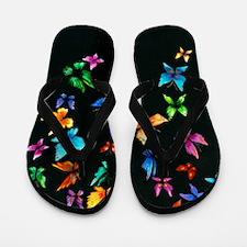 Butterfly Artwork Flip Flops