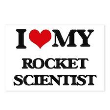 I love my Rocket Scientis Postcards (Package of 8)