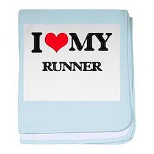 I love my Runner baby blanket